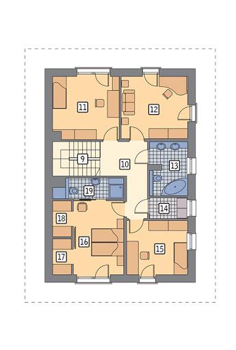 Doborowy - wariant I - M239a - Rzut piętra