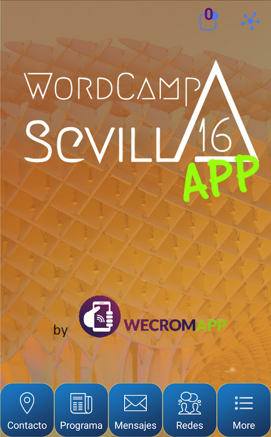 WordCamp Sevilla 2016: captura de pantalla