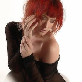 Redhead beauty by Michaela Firešová - People Portraits of Women ( redhead, woman, portrait )