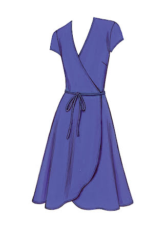 Omlottklänning Kwik Sew 3489