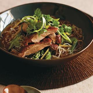 Duck And Asparagus Noodle Soup.