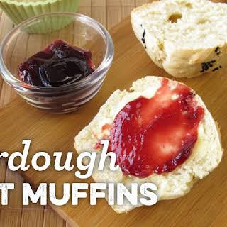 Sourdough Spelt Muffins.