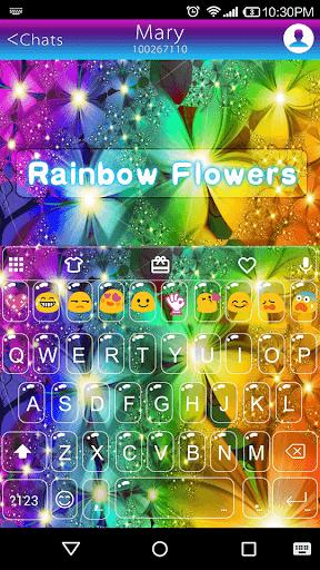 Rainbow Flowers Emoji Keyboard
