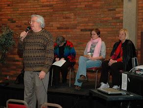 Photo: Frank Kroncke, introducing panel