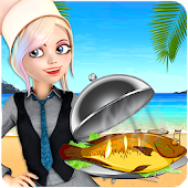 Crazy Seafood Restaurant: Grilled Fish Sushi Games