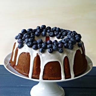 Vanilla  Yoghurt  Bundt  Cake  With  Blueberries.