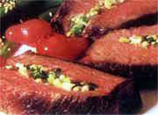 Grilled Garlic Stuffed Steaks Recipe