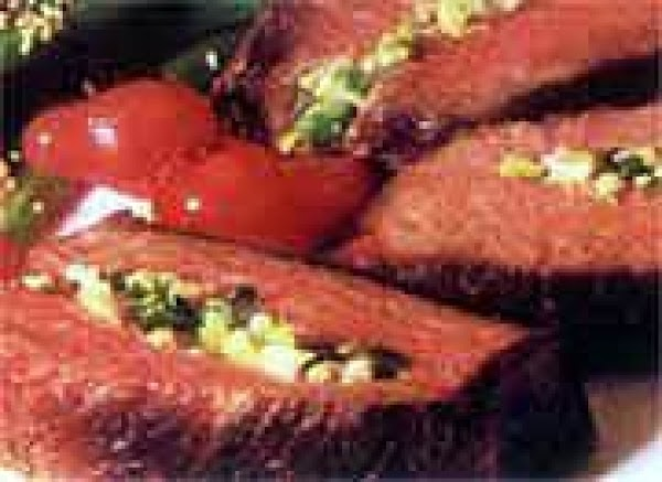 Grilled Garlic Stuffed Steaks Recipe