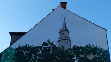 """Photo: """"Kunstgenuss auf der Piazza"""" Osman Bol, 2004; Martin-Luther-Straße 26"""