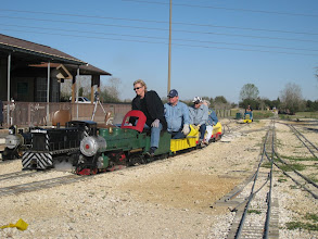Photo: Donna Green on the green Green 4-4-2 with Pete Green fireman right there watching.   HALS 2009-0228