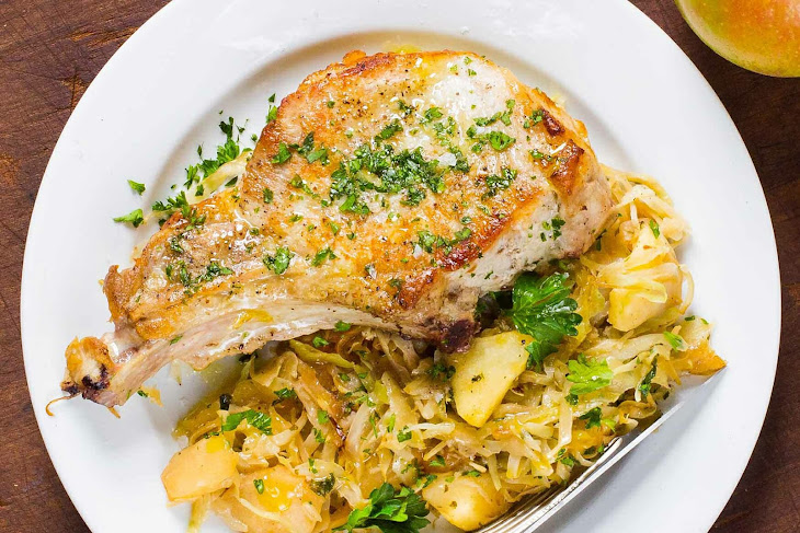 Skillet Pork Chops with Cabbage Recipe
