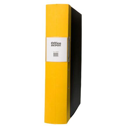 Träryggspärm A4 60 mm gul