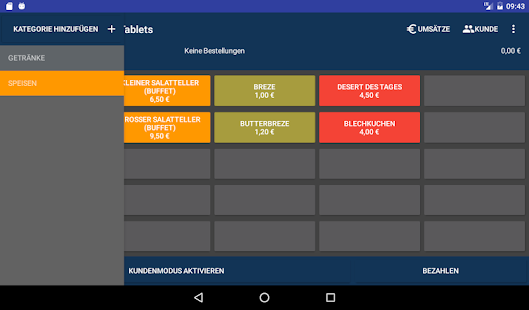 Kasse Pro 2.0 für Tablets Screenshot