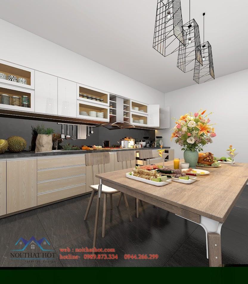 thiết kế phòng bếp giá rẻ