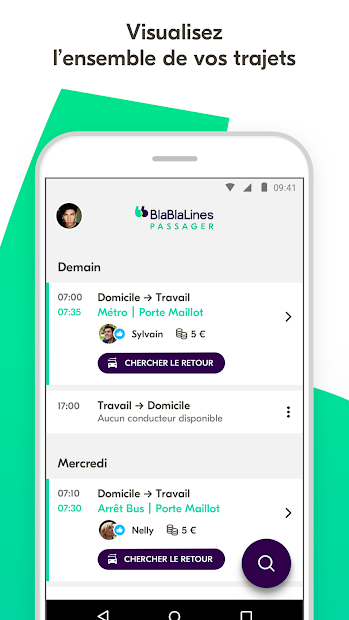BlaBlaLines - Covoiturage Quotidien Android App Screenshot