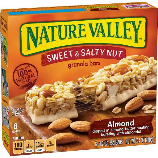 cereal nature valley barra mantequilla de almendras 210gr 6und