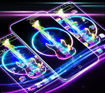 Neon Guitar Theme - náhled