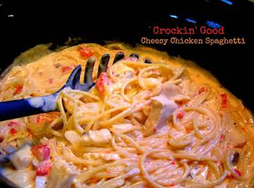 Crockin' Good Cheesy Chicken Spaghetti
