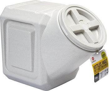 Vittles Vault Airtight Stackable Pet Food Container - White, 40lbs