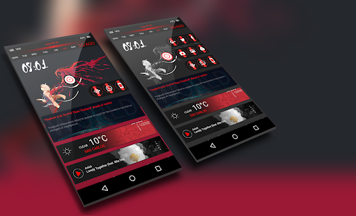 KLWP  Material - náhled
