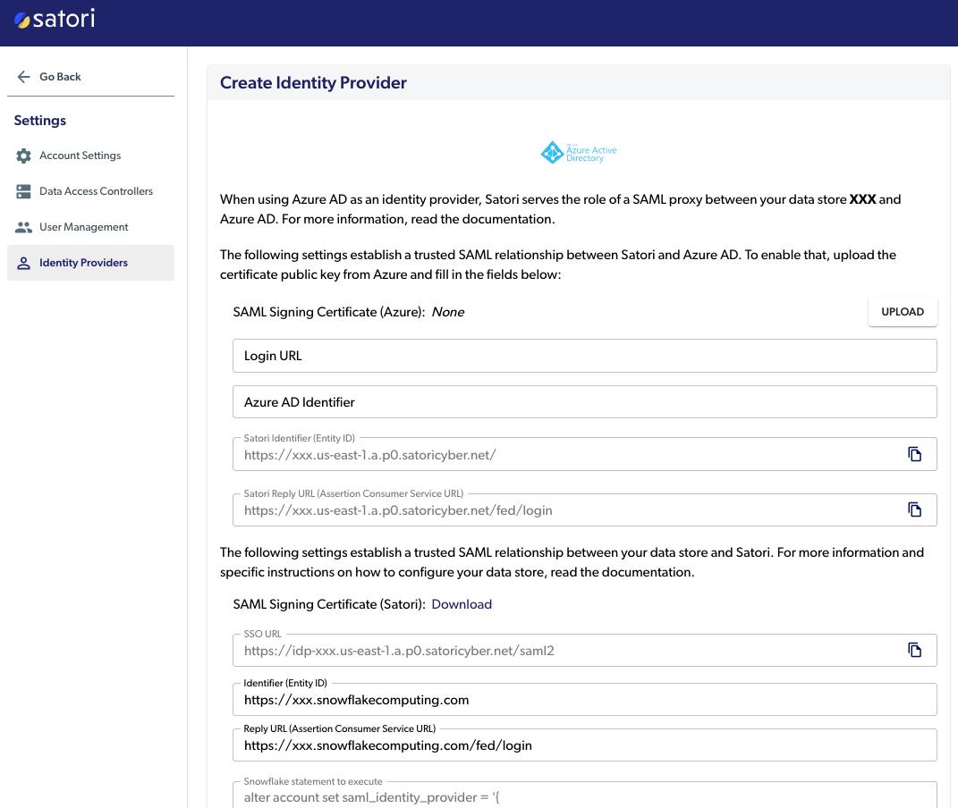 Create Identity Provider
