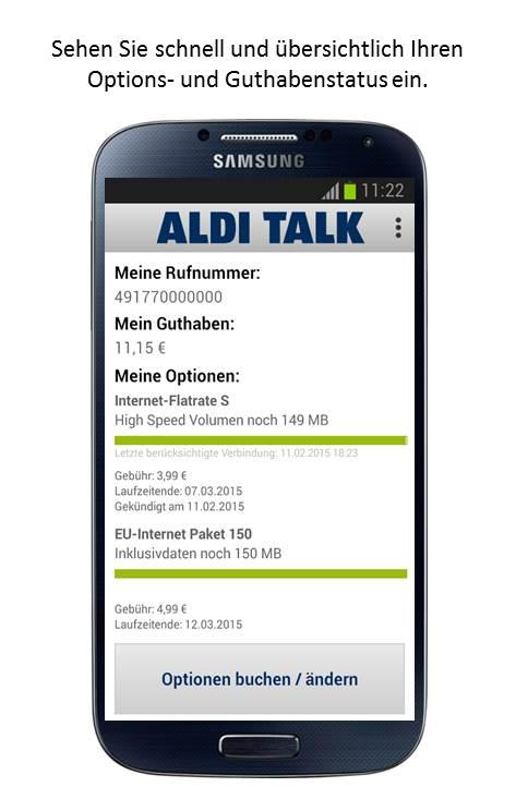 ALDI TALK- screenshot