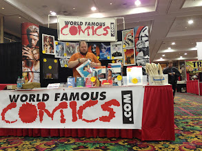 Photo: World Famous Comics, all set up and ready for the crowd.