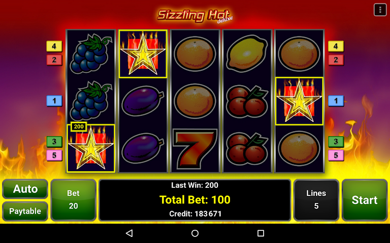 android Sizzling Hot™ Deluxe Slot Screenshot 6