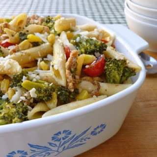 Skinny Sausage Pasta + Vegetables.