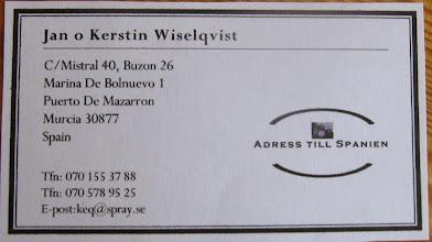 Photo: Våran adress sparas här