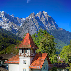 View From The Alpina by Elk Baiter - Landscapes Mountains & Hills ( mountains, garmish, germany, alpina inn, alps,  )