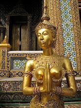 Photo: mythical half-bird, half-human kinnaree, Wat Phra Kaew