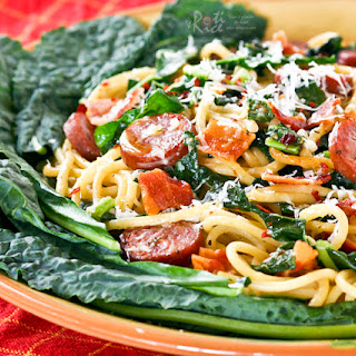 Kale Sausage Spaghetti.