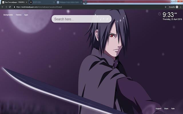 Sasuke Uchiha HD Wallpapers New Tab Theme