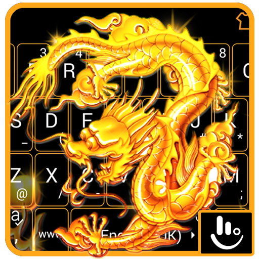 Golden Dragon Keyboard Theme