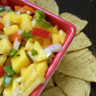 Homemade Pineapple Mango Salsa