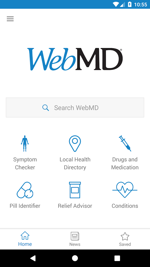 WebMD for Android: captura de pantalla