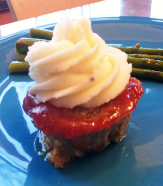 Meatloaf And Mashed Potato Cupcakes Recipe