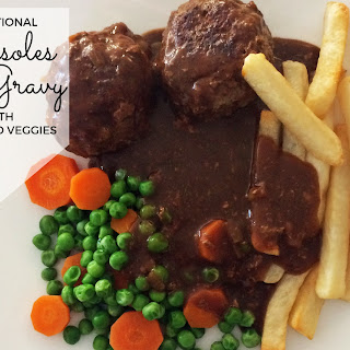 Traditional Rissoles and Gravy.