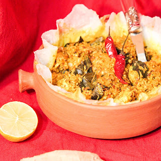 Indian Style Oven Cooked Curried Fish.