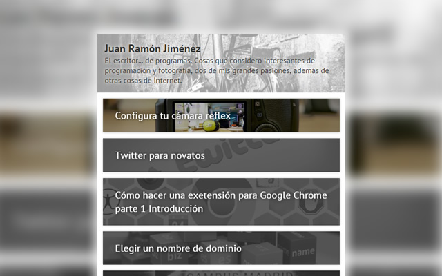 Juan Ramón Jimenez Quick WordPress reader