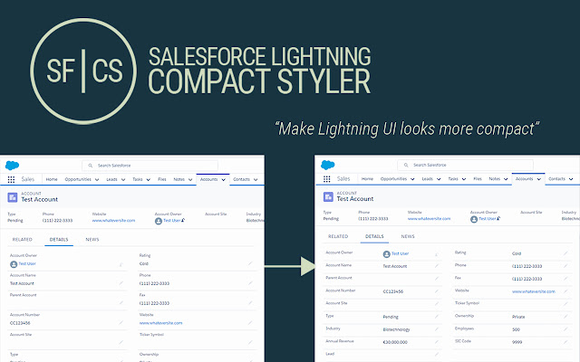 Salesforce Lightning Compact Styler