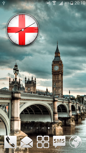 England Analog HD Clock Widget