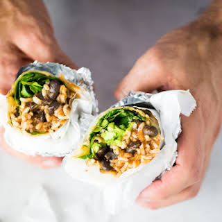 Healthy Mexican Burritos.