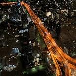 tokyo highways by night in Tokyo, Tokyo, Japan