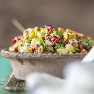 Cranberry Almond Charred Broccoli Salad.