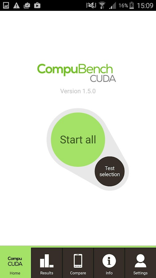 CompuBench CUDA Mobile- screenshot
