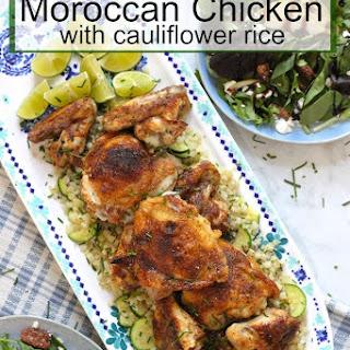 Moroccan Chicken and Cauliflower Rice Platter!.