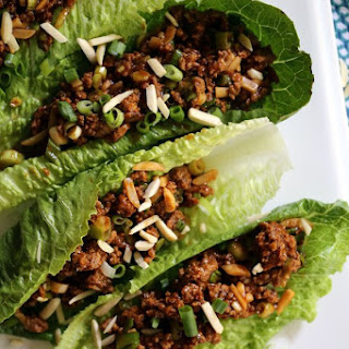 Asian BBQ Turkey Lettuce Wraps.