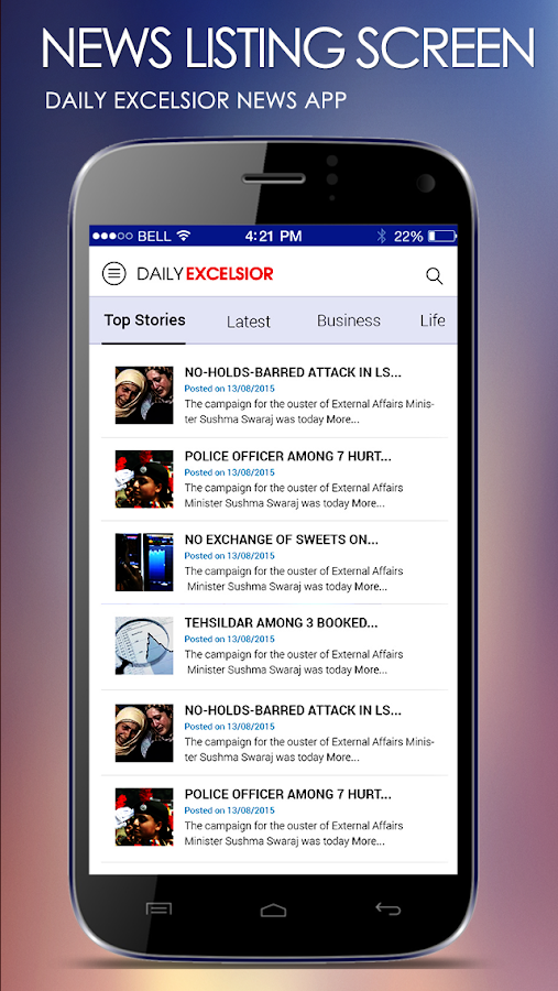 Daily Excelsior- screenshot